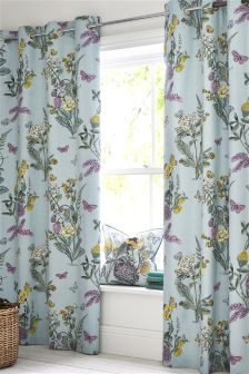 Orchard Floral Eyelet Curtains
