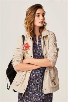 Utility Embroidered Jacket