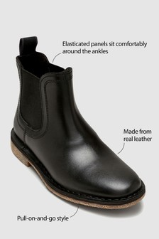 Chelsea Leather Boots (Older Boys)