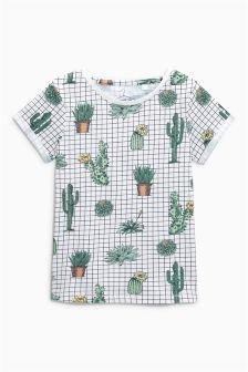 Cactus Grid T-Shirt (3-16yrs)