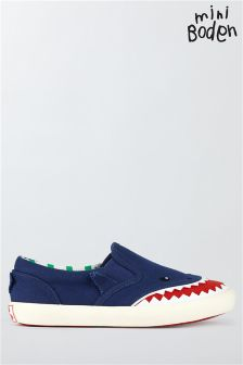 Boden Beacon Blue Novelty Canvas Pull Ons
