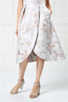 Coast Multi Blake Jacquard Skirt