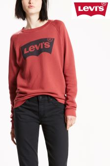 Levi's® Relaxed Graphic Crew Fleece Batwing Red Dahlia Top