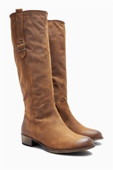 ladies long brown boots