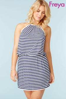 Freya Navy Stripe Dress