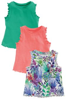 Floral Vests Three Pack (3mths-6yrs)