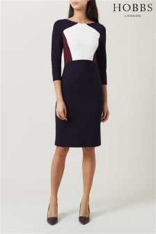 Hobbs Navy Ashley Dress