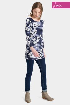 Joules Navy Posy Printed Kirsten Jersey Tunic