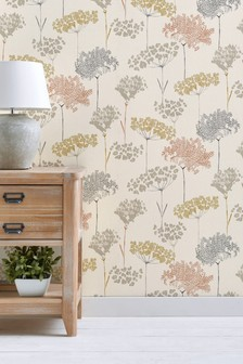 Pasture Trees Paste The Wall Wallpaper
