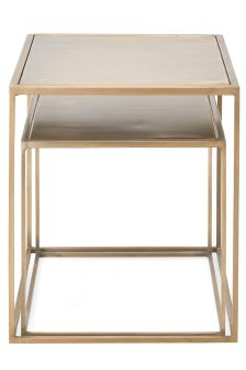 Set Of 2 Metallic Nest Of Tables By Be Pure