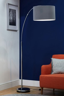 Floor lamps standard lamps modern floor lights next for Next large curved arm floor lamp