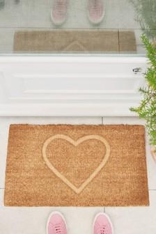 Heart Embossed Doormat