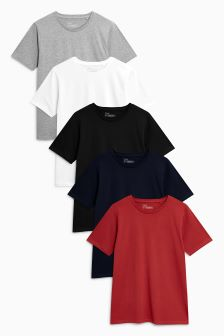 Colour T-Shirts Five Pack