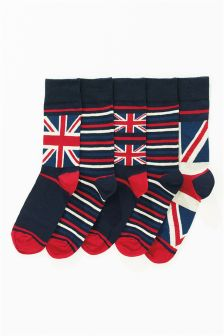 Union Jack Socks Five Pack