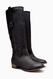 black knee high boots uk