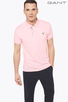Gant Pink Contrast Collar Poloshirt