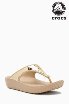 Crocs™ Platinum Sloane Embellished Flip Flop
