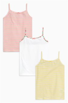 Stripe Vests Three Pack (1.5-16yrs)