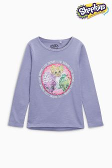 Shopkins Long Sleeve Flippy Sequin T-Shirt (3-16yrs)