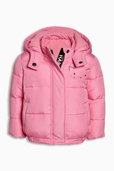Cat Face Padded Jacket (3mths-6yrs)