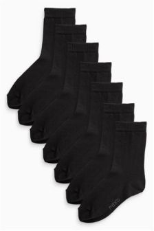 Black School Socks Seven Pack (Older Boys)