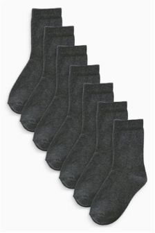 Grey School Socks Seven Pack (Older Boys)