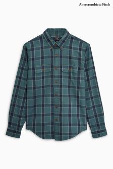 Abercrombie & Fitch Green/Navy Night Watch Check Shirt