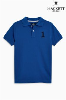 Hackett Blue Older Boys Poloshirt