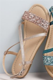 Metallic Strap Sandals (Older Girls)