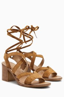 Leather Tie Sandals