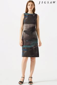 Jigsaw Blue Ocean Tide Jacquard Dress
