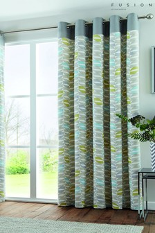 Fusion Duck Egg Copeland Eyelet Curtains
