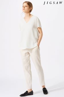 Jigsaw Cream V-Neck Cady Top