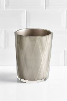 Faceted Bathroom Bin