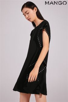 Mango Black Stud Detail Dress