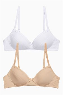 Nude White Nude and White Bra Two Pack (Older Girls)