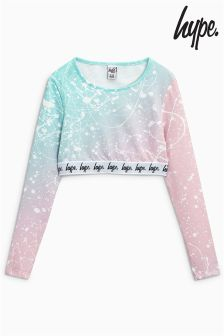 Hype Turquoise/Pink Speckled Crop Top