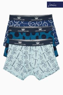 Joules Tour De Pants Printed Underwear Three Pack
