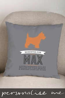 Personalised Pet Dog Cushion By Letterfest