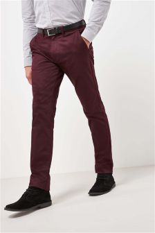 Belted Sateen Chinos