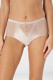 Signature Mid Rise Briefs With Silk