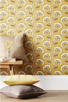 Paste The Wall Retro Cowparsley Wallpaper