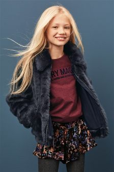 Faux Fur Bomber (3-16yrs)
