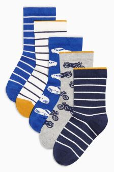 Transport Socks Five Pack (Older Boys)