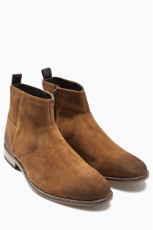 Suede Zip Boot