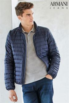 Armani Jeans Navy Padded Jacket