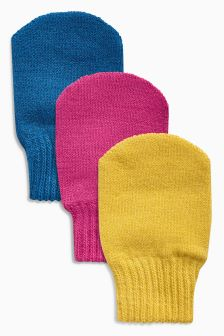 Mitts Three Pack (Younger Girls)