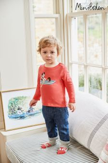 Boden Red Vehicle Appliqué T-Shirt