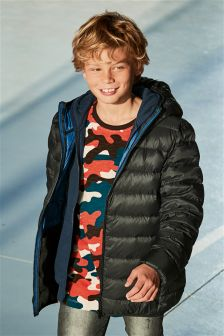 Down Feather Padded Jacket (3-16yrs)