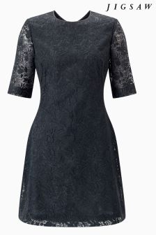 Jigsaw Grey Iris Lace Dress